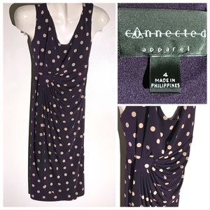 EUC Connected Apparel Purple Dot Dress